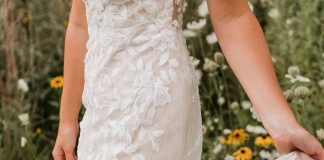 Looking for a nature-inspired/leaf-patterned lace fit and flare dress! : weddingdress